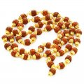 POWER FULL 4 MM 5 Face Small Beads Rudraksha Mala IN Gold